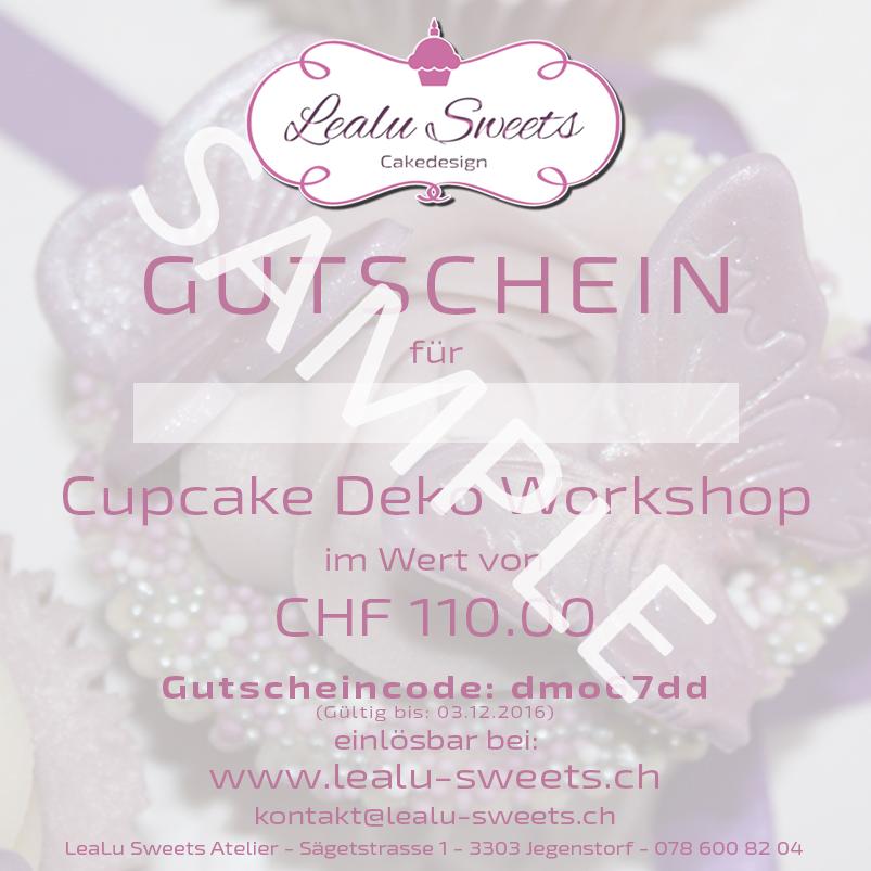Gutschein LeaLu-Sweets Deko Workshop – Lealu-Sweets