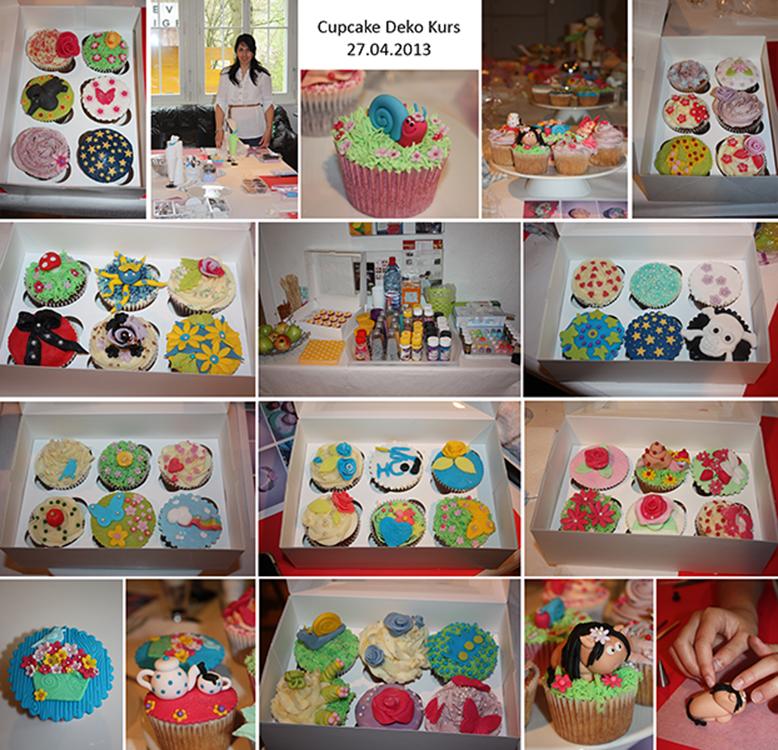 Cupcake Deko Workshop Buttercreme & Fondant April 2013