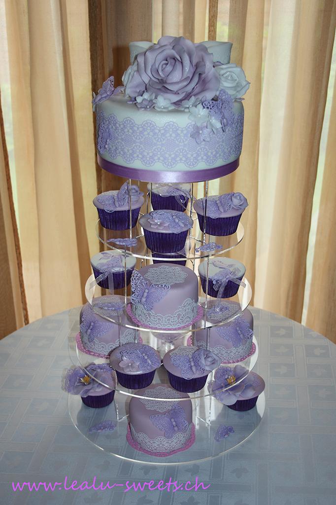 Hochzeitstorte Cupcakes Petit Fours Lealu Sweets