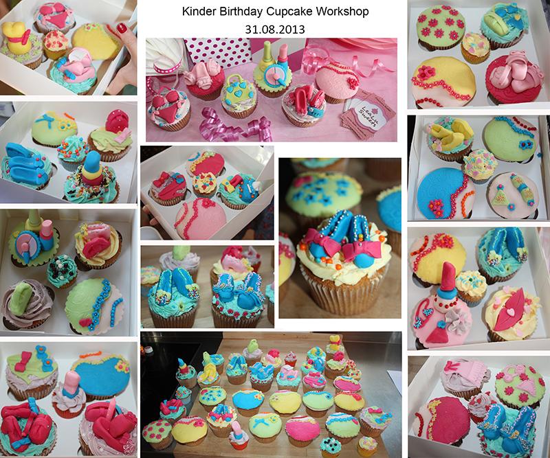 Kinder Geburtstags Cupcake Deko Workshop August 2013