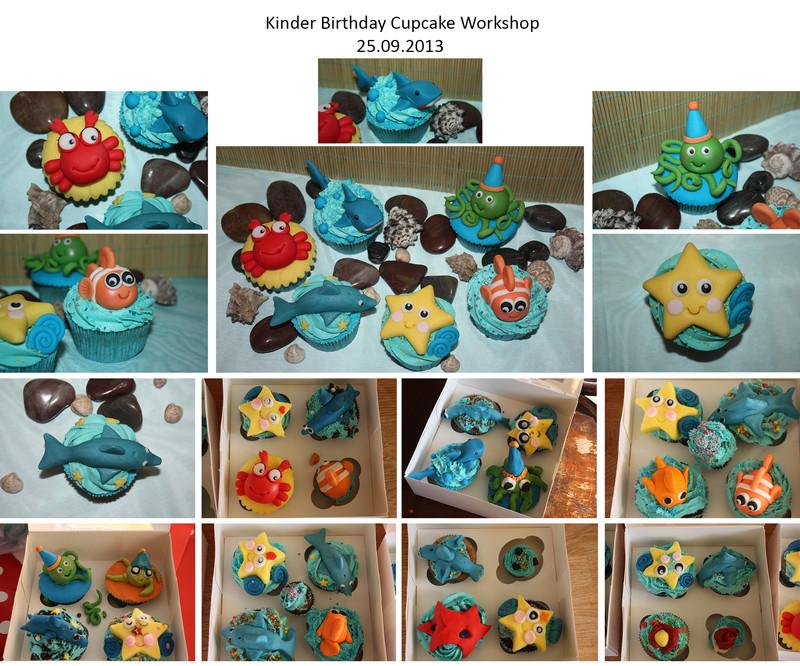 Kinder Geburtstags Cupcake Deko Workshop September 2013