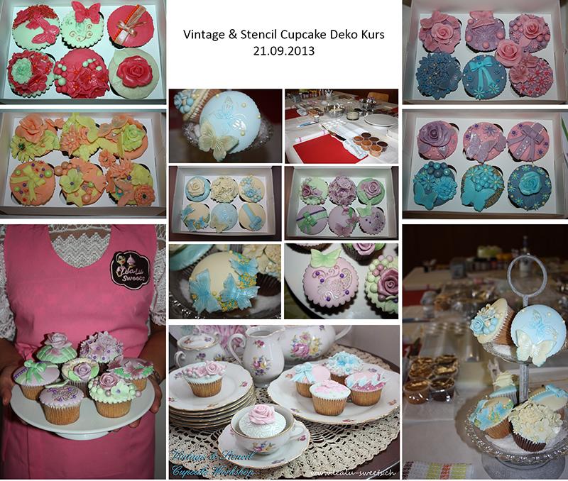 Vintage & Stencils Cupcake Deko Workshop September 2013