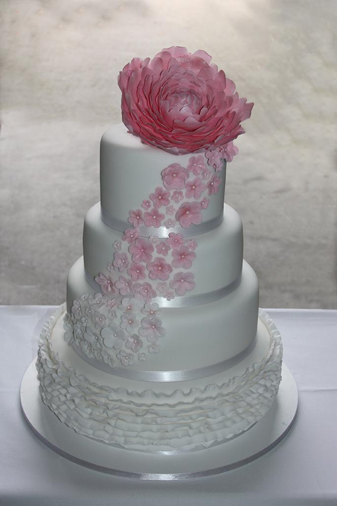 Hochzeitstorte Zucker Pfingstrose Sugar Peony Lealu Sweets