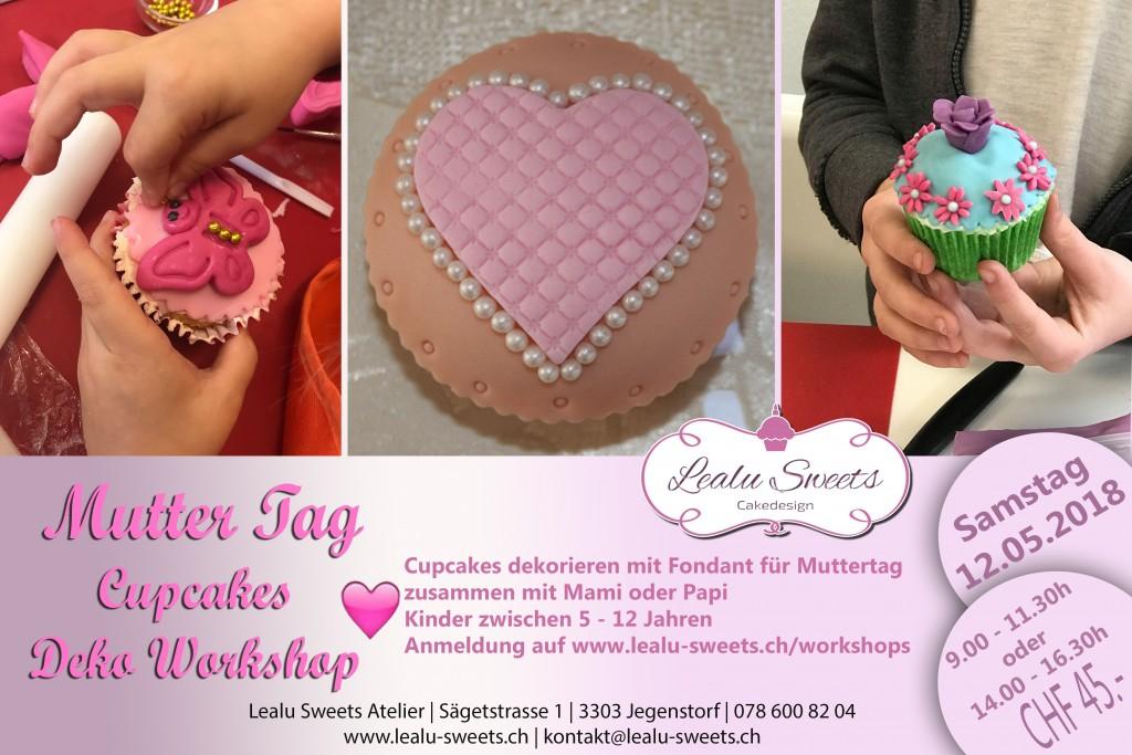 Muttertag Kinder Cupcakes Deko Workshop Samstag 12 05 2018 09 00