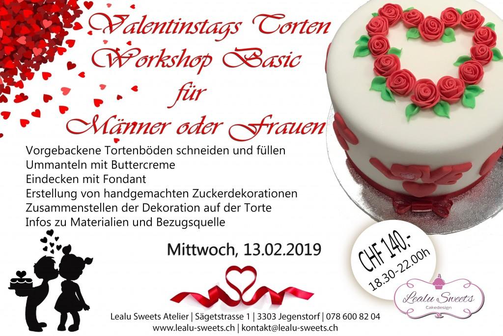 Valentinstags Torten Workshop Basic Fur Manner Und Frauen Mittwoch